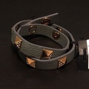 Swarovski leather bracelet
